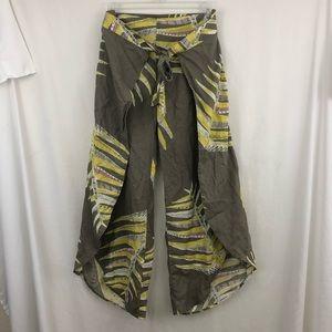 Patagonia Garden Island Hemp Grey/Yellow Pants S